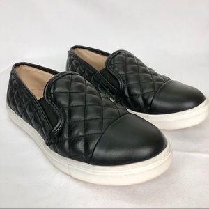 Black quilted Steve Madden Slip ons sneakers